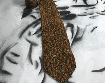 1b49660f12fe5 VALENTINO Silk Vintage tie MADE in ITALY , Brown Abstract tie for men,  Neckties , Retro ties, 90s80s