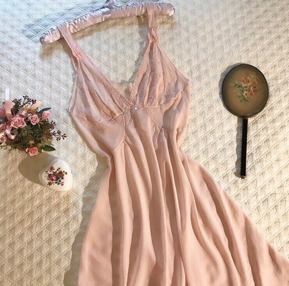 Vintage early 2000s sheer slip dress