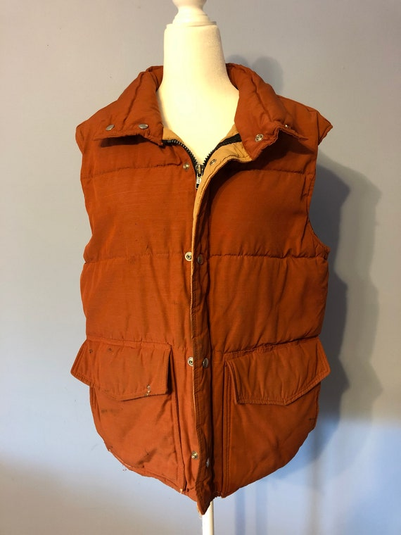 Vintage Burnt Orange/Red Puffer Vest Frostline Kit