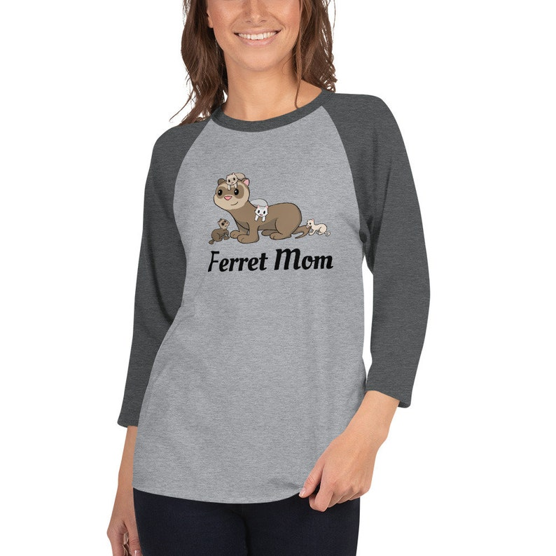 Ferret Mom 3/4 sleeve raglan shirt image 0