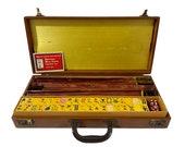 Rare Antique 1930s Bakelite 164 Tile Mahjong Set - 5 Racks Complete