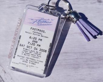 Rock N Roller Coaster FastPass Keychain