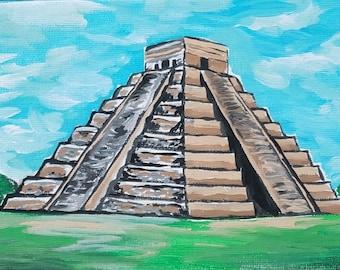 Chichen Itza Stairs Mexico Souvenir Fridge Magnet