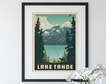 CANVAS Group of Lakes in Minnesota Art print POSTER