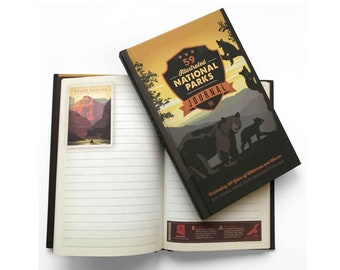 National Park Journal (59-Park Edition) by Anderson Design Group | Hiking Journal | WPA National Parks Inspired Travel Journal