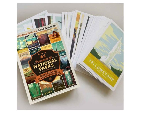 National Park Postcards 61-Park Edition by Anderson Design
