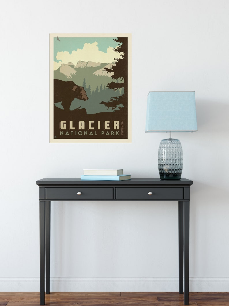 Glacier National Park Travel Poster by Anderson Design Group  image 1