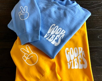 Surround Yourself With Positive People Unisex Sweater Positivity Good Vibes Only Empowered Pocket Positive Vibes