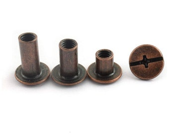 Chicago Screw Rivets - M5x6mm 10mm 12mm - Easy to use great for tags!