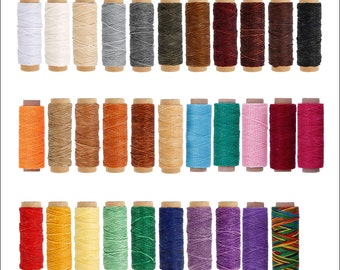 Waxed Thread for Leather Sewing - Thick Colored Thread for Jewelry - Leather Stitching Thread