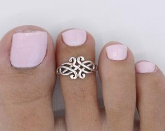celtic midi ring adjustable ring open toe ring Adjustable Toe Celtic Braided Knot Ring Celtic toe ring Irish toe ring