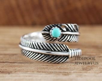 Double Turquoise wrap around ring Two Stone Turquoise Ring Turquoise Rings Adjustable Rings Blue Boho Summer Jewellery. Gemstone Ring