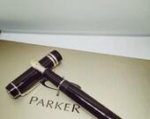 Parker Duofold blackInternational Platinum Trim Fountain Pen 18k