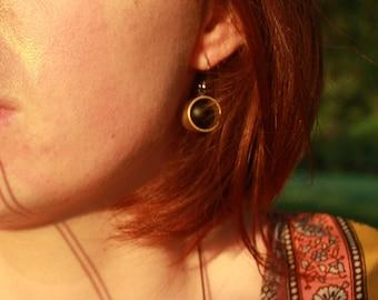 Black Matter Earrings - fidget jewelry by Jessi Stead