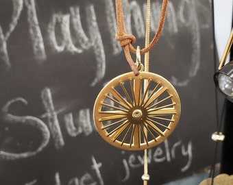 Eightfold Wheel Pendant - Dial Necklace by Jessi Stead