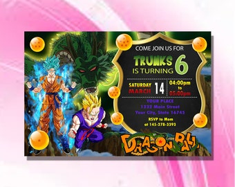 Dragon Ball Z Invitations