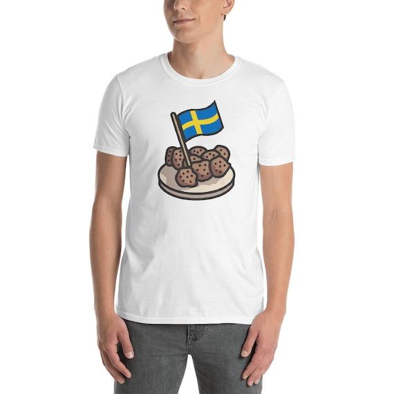 Funny Sweden T Shirt Sverige Swedish Meatballs Gift Idea Etsy