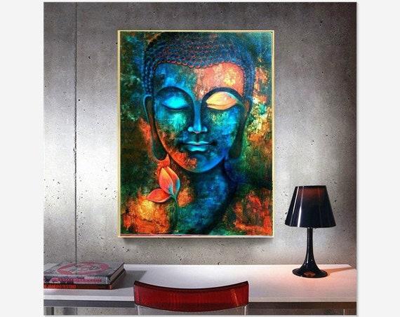 DIY 5D Diamond Painting Full drill Buddha head Embroidery Decor Art 24Y