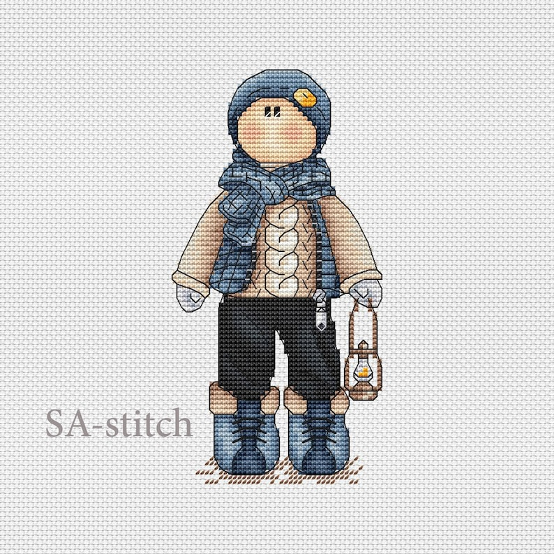 Cross Stitch Pattern Tilda Rob PDF Instant Download Pattern Xstitch Cute Cross Stitch Embroidery