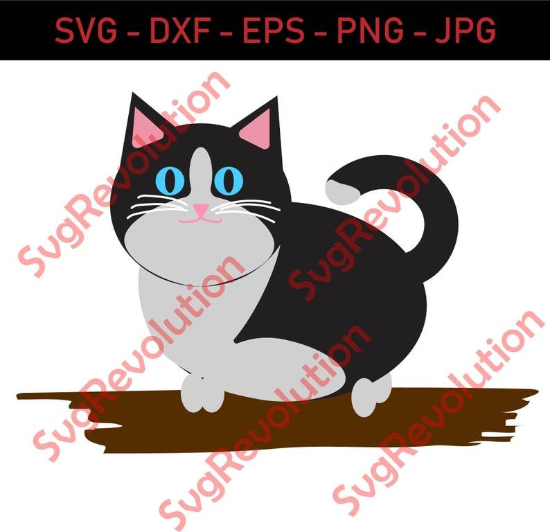 Fat Cat SVG Cutting Files for CricutSilhouette