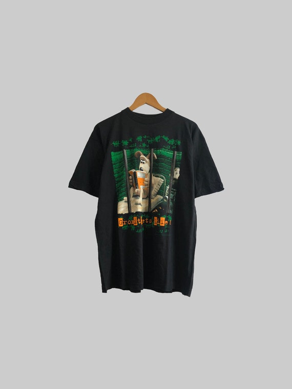 Size XL   Vintage 1989 Wallace and Gromit single s