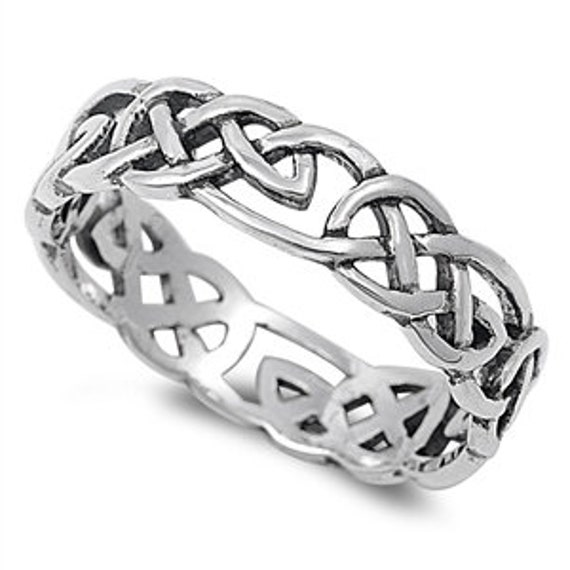 Custom Engraving Men Women 9mm  Stainless Steel Ring Celtic Wedding Band Celtic Ring