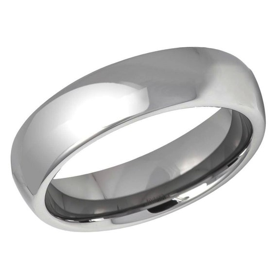 Tungsten Wedding Ring 5.5mm Personalized Wedding Ring Comfort Fit Tungsten Wedding Band,Ring for Her Ring for Him