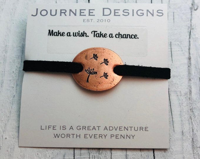 Make a wish adjustable Pressed Penny Bracelet