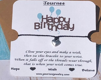 Happy Birthday wish bracelet gift card present