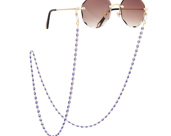 Reading Glass Chain Sunglass Chain EC043 Eyeglass Chain Gift For Her Eyeglass Lanyard Holder Glasses Chain Multicolor Evil Eye