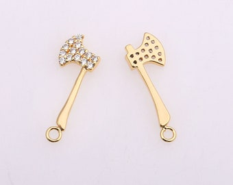 Charms for Necklace Bracelet Anklet Making 1pc 25x15mm Wholesale Rhinestone Crystal Gem Charm with 24K Gold-Filled Rhinestone Frame