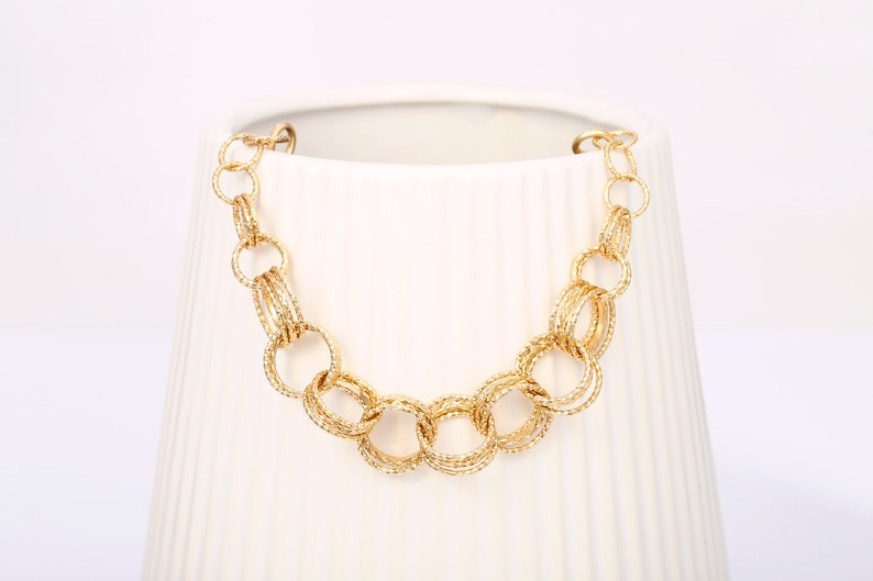 18K Gold Ring Link Chain Bracelet,Toggle Clasp Bracelet,Cuban Chain Bracelets Womens,Layering Bracelet,AWW-SL583 Chunky Link Chain Bracelet