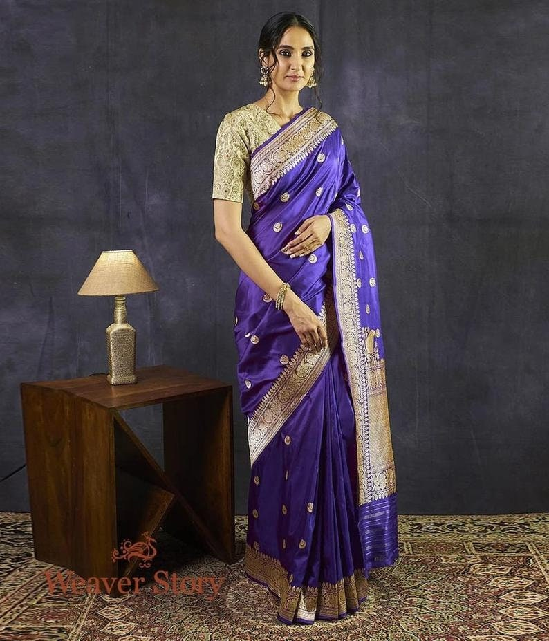 Peach Colore Kanchipuram Weaving Silk Saree With Gold Zari Wooven Pallu bollywood style party wear saree Stunning Look Exclusive Saree