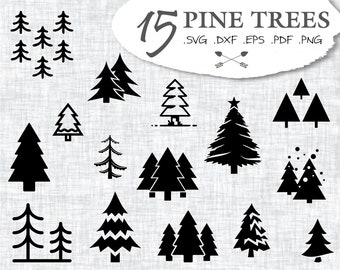 Bare Christmas Tree Svg.Tree Trees Etsy