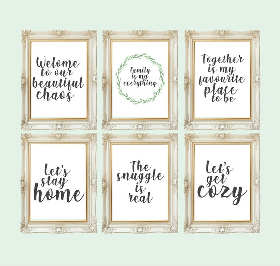 Family Home Prints Love Wall Art Decor Living Room Quotes Etsy
