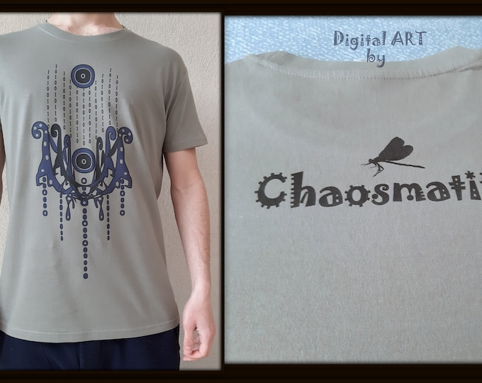 Matrix Trishul/illustration art/digital print/cotton T shirt Multicolor/binary system magic/Reality Creator/festival/shiva,Neptune,Posidon