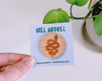 Wood Snake Pin