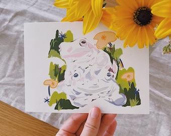 Froggy Friends Print