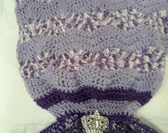 Hand crocheted Mermaid blanket