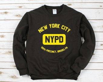 6533c588 New York City NYPD Sweatshirt / Brooklyn 99 Sweatshirt / Brooklyn Nine Nine  Sweater / Brooklyn 99 Gift