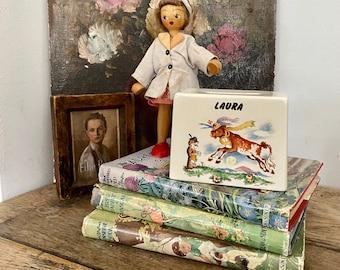Laura Vintage Personalised Nursery Rhyme Ceramic Money Box Laura R Moss Ltd 1026