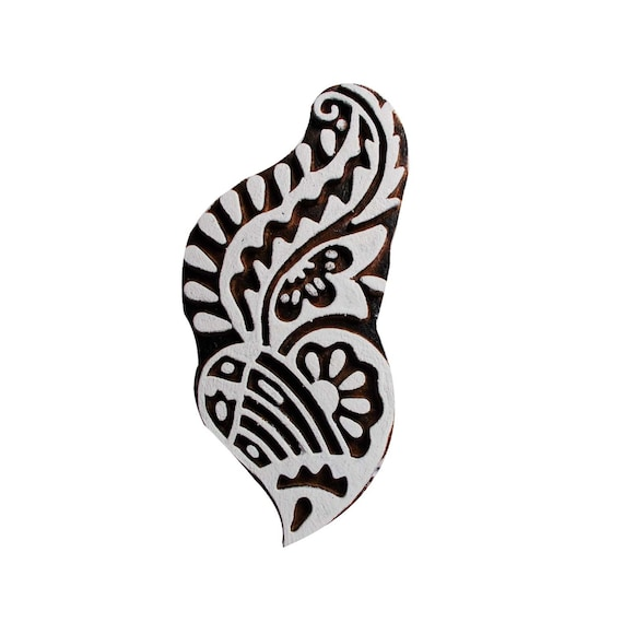 Butterfly Carved Wooden Printing Block Stamp Indian Print Textile Fabric Border5