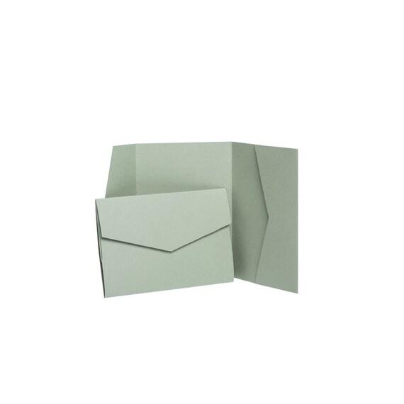 Dove Grey Matte Pocketfold Invites 144mmx144mm from Pocketfold Invites LTD 1