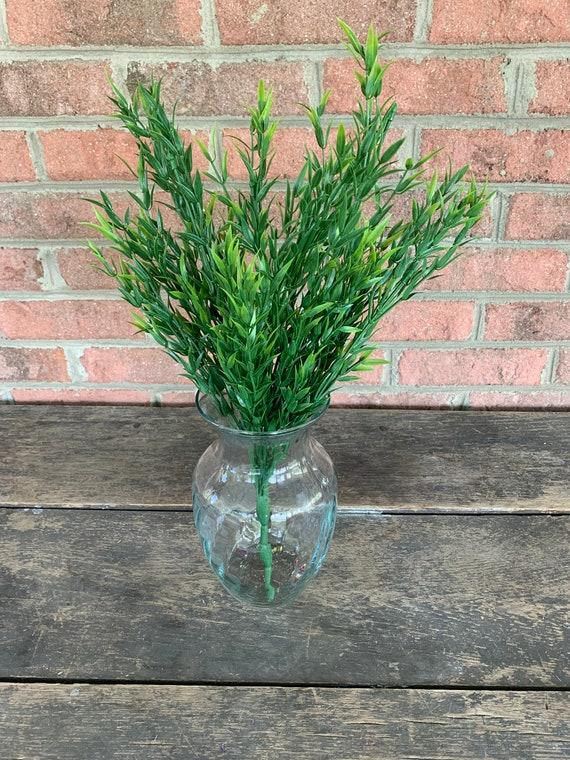 Greenery Filler Foliage Artificial Fake Stem Green Florist Wreath Supplies 18 Plastic Grass Bush