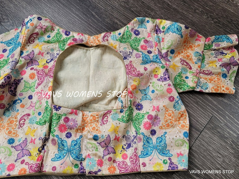 Exclusive Blouse Collection from Our House of VAVS !! Beautiful Butterfly Prints Stitched Blouse Size 36 extends to 42 !!!