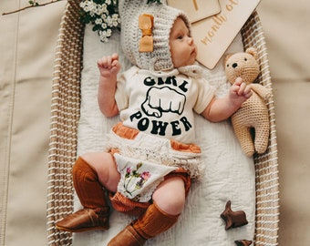 Girl Power Kids Tee Feminist Newborn Baby Bodysuit Girl Power Fists Toddler Girl Tee Girl Power Shirts Baby Gift The Matriarchy Matters™
