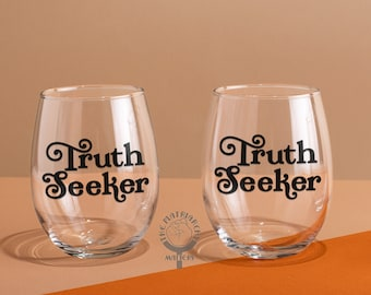 Truth Seeker Stemless Wine Glass Woke AF Wine Tumbler Feminism Gift Womens Rights Equality Gift Wine Gifts For Her The Matriarchy Matters™
