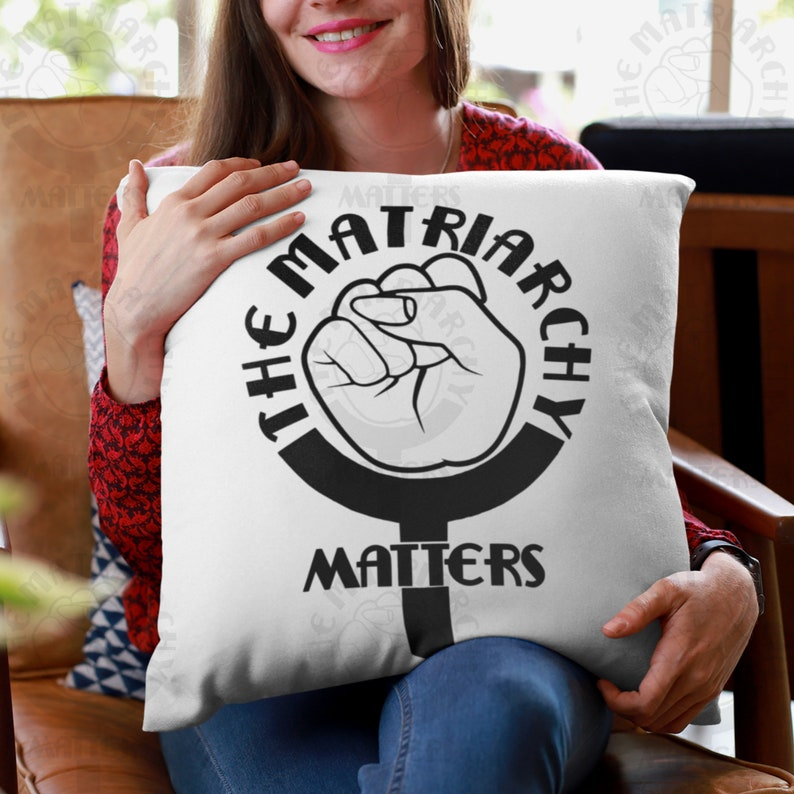 The Matriarchy Matters™ Feminist Pillow  Premium High Quality image 0
