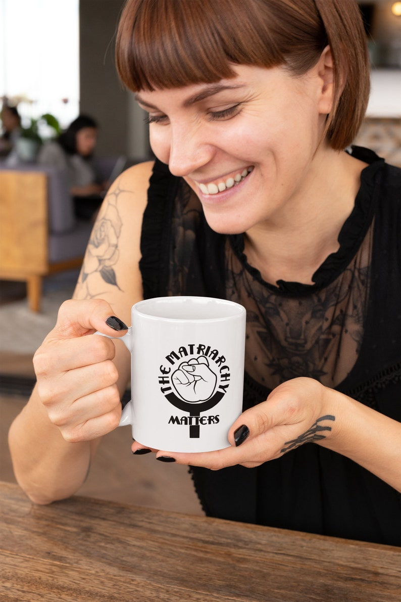 The Matriarchy Matters™ Feminist Pride Coffee Mug Cup image 0