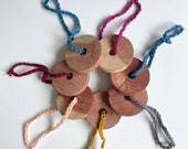 Traditional cedar wood moth repellent bears and discs, compostable and eco friendly 100 natural